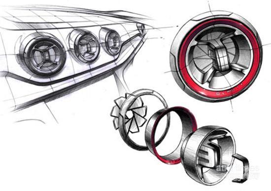 汽车内饰手绘设计图