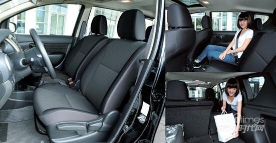 骊威车是东风日产推出的一款全时多功能两厢车,它有着4249*1695*1577mm的车身(劲锐版 为4308*1734*1630mm),2600mm的轴距,从而保证了足够宽敞的车内空间,584mm后排膝部空间,116mm头部空间为乘客带来了十 分舒适的伸缩空间,而337L-1536L的可变载物空间更是使得新生代骊威足以与保姆车的称号相匹配。   儿童乘车当然要有专门的儿童安全座椅,其体积自然大于一般的车辆座椅,新生代骊威不但配置了儿童安全座椅接口,而且584mm后排膝部空间足以保证 在安装儿童安全座